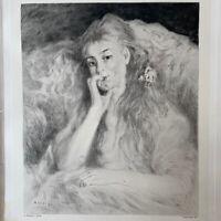 Auguste Renoir gravure Gravure Eau Forte Etching Portrait Femme La Pensée
