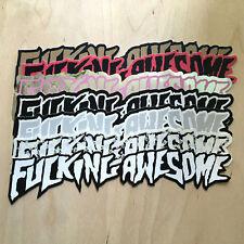 F--KING AWESOME skateboard sticker Jason Dill decal bumper Supreme logo Huf