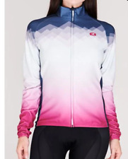 SUGOI Evolution Long Sleeve Cycling Jersey Ladies Blue/Pink Size UK 12 M *REF185