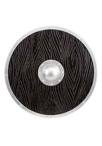 Wood-Look Viking Shield Black