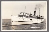 "[62571] OLD REAL PHOTO POSTCARD STEAMER ""ALGOMAH II"", MACKINAW CITY, MICHIGAN"