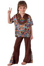 Brand New Wicked Groovy 1970's Hippie Boy Child Costume (M)