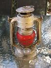 FEUERHAND Super Baby  No.175 Germany Kerosene Lantern OIL Lamp Red Glass WW2 Era