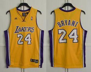 MINT NBA Los Angeles Lakers Kobe Bryant Basketball Jersey Adidas Size M Length+2