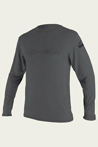 O'Neill Basic Skins L/S Sun Shirt Rashguard - Men's - Large / Smoke