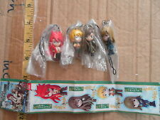 Bandai tales of the Abyss TOA figure gashapon strap x4