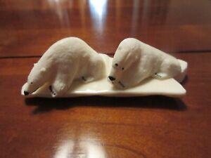 Vintage Inuit Carving Bone  Signed Kiyuklook