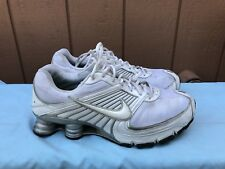 RARE EUC MENS NIKE SHOX TURBO 8 NZ WHITE RUNNING SHOE US 10 EUR 44 344951-112 A6