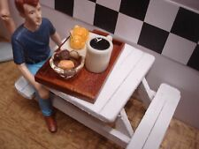 1/18 -Tray w/Sandwich,bowl of pastries, Mug of coffee-4 your shop/garage/diorama