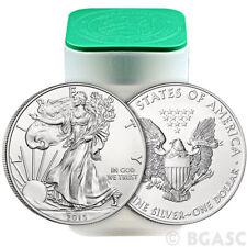 2015 Mint Roll of 20 1 Troy oz .999 Fine Silver American Eagle $1 BU Coins