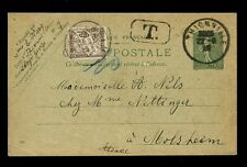 POSTAGE DUE FRANCE STATIONERY 1929 to ALSACE 10c