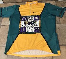 Vintage Vomax 1995 1/4 Zip Pmc Pan Mass Challenge 25th Cycling Jersey Mens Usa