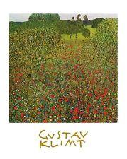 Gustav Klimt Mohnfeld Poster Kunstdruck Bild 30x24cm - Kostenloser Versand