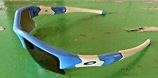 "Oakley Flak Custom Sunglasses Baby Blue/White Unisex W/Case, Cover  ""Jaguars"""