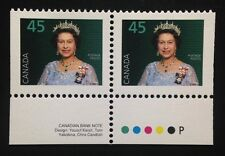 Canada #1360as +Tab PP MNH, Queen Elizabeth II Booklet Pair of Stamps 1995