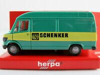 """Herpa 4124 Mercedes-Benz 207 D Kasten (1977-1995) """"SCHENKER"""" 1:87/H0 NEU/OVP"""