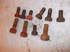 (10) Farmall IH C SC A B BN tractor original tapered implement drawbar bolts