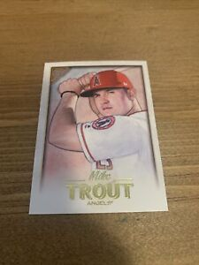 2018 Topps Gallery Wood   #100 Mike Trout Anahiem Angels Star