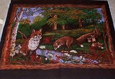 Fox Love Wall Hanging Quilt top Panel Fabric 100% Cotton Wildlife