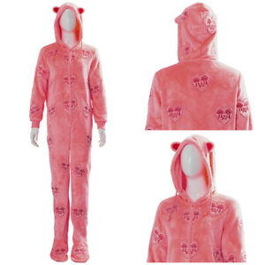 Birds of Prey And Harley Quinn Pajamas Heart Patterned Jumpsuit Cosplay Costume