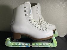 Glacier by Jackson 520 Figure Ice Skates Size 3.5 Pre Owned With Blade Covers