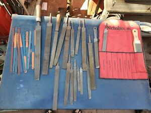 VINTAGE LOT OF METAL & WOOD FILES