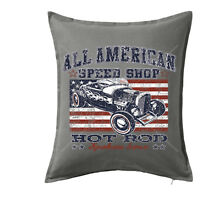 Hotrod American Speed Shop Vintage Cushion Cover Case Rockabilly Classic Car 213