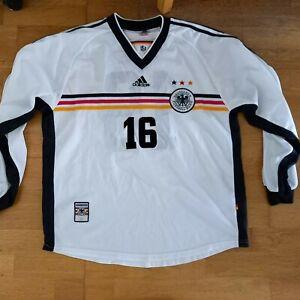Match Worn jancker bayern Germany Shirt 1999 v n ireland trikot deutschland XL