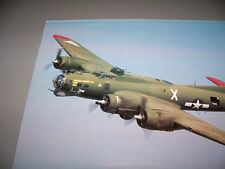 "VINTAGE..B-17 ""TEXAS RAIDERS"" .... COLOR PHOTO PAGE...RARE! (826L)"