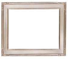 12 x 16   Picture Frame Hand Applied Silver Leaf Gallery Finish Super Nice
