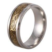 2X(Drachenschuppe Drachen Muster schraeg Kanten keltisch Ringe Schmuck Hochze S2