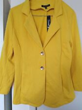 SWEET GIRL Yellow 3/4 Sleeve Jacket Blazer Size 12
