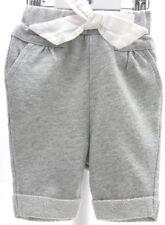 R Baby pantalon tissu jersey gris clair pailletté gros noeud blanc bébé 1 mois