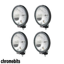 "4X 12V/24V 9"" INCH ROUND SPOT FOG LIGHTS LAMPS CAB TOP BAR TRUCK LORRY 4X4"