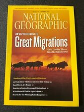 National Geographic Magazine November 2010 Great Migrations With Map