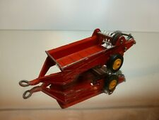 DINKY TOYS 321 MASSEY HARRIS MANURE SPREADER - RED 1:43? - GOOD CONDITION