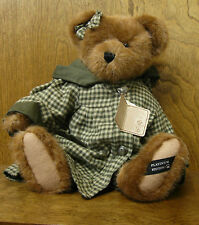 "Boyds Plush #919817 Alicia Bearsley, 16"" Dressed Bear, NEW/Tag From Retail Store"