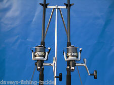 SEA FISHING KIT 2 OKUMA 13ft BEACHCASTER RODS+SILK70 SURF REELS+PARKER TRIPOD