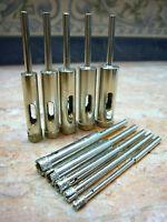 3mm-12mm THK Diamant Hohlbohrer Fliesen Bohrkrone 3.17mm Schaft 10 Stück Grit 50