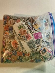 Huge Lot 1,000's & 1,000's of WORLWIDE USED STAMPS Off Paper Over 2 lbs.