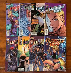 Danger Girl #1 - 7 (1998) 1st PRINT VARIANTS  PREVIEW CAMPBELL VF/NM LOW RUN SET