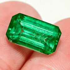 3.15Ct Colombian Emerald Octagon Collection Color Enhanced QMDa485