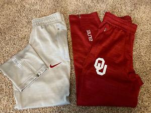 Adult Woman OU Nike Dri-Fit Elite Active Wear Pant Gray Zipper Ankles Small P Ch