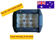Pair New Triple Row 27W LED Work Light Offroad Driving Flood Light Car Boat lamp