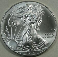 2014 Silver American Eagle, Silver Dollar, BU, UNC, 1 oz, .999 Silver, #15028