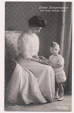 Vintage Postcard Cecilie of Mecklenburg-Schwerin,German Crown Princess & Family