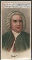 Musician Johann S Bach German Composer 100+ Y/O Ad Trade Card