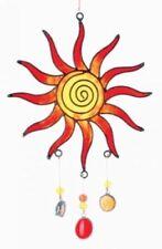 SUNCATCHERKETTE: Sonne in rot/gelb, L ca. 14 cm, Raum-/Fensterschmuck mobile