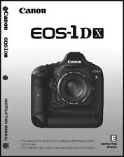 Canon EOS 1Dx Digital Camera User Instruction Guide  Manual
