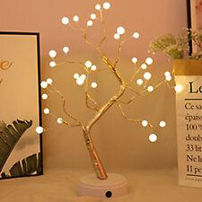 LED Cherry Blossom Tree Bonsai Light Table Bedside Lamp Room Party Decor Gift